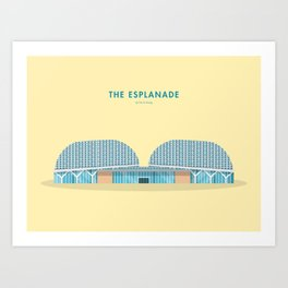 The Esplanade, Singapore [Building Singapore] Art Print
