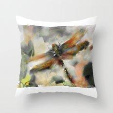 Dragonfly Garden - Throw Pillow