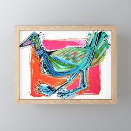 Bird on the Run Framed Mini Art Print