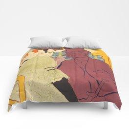 """Henri de Toulouse-Lautrec """"Flirt"""" Comforters"""