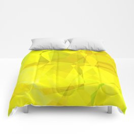 Pale Yellow Poinsettia 1 Abstract Polygons 3 Comforters