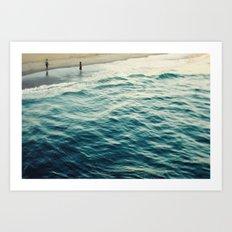 You, Me, and The Sea  Art Print
