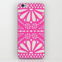 Fiesta de Flores Pink iPhone Skin