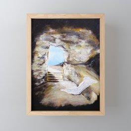 Empty Burial Tomb Framed Mini Art Print