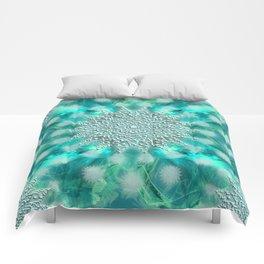 Christmas Snowflake Fractal Art Comforters