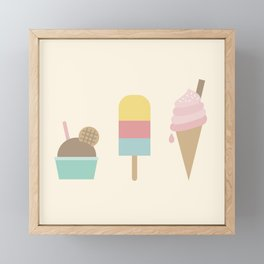 Ice Cream Framed Mini Art Print