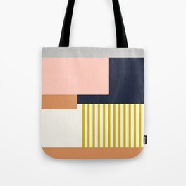 Sol Abstract Geometric Print in Multi Tote Bag
