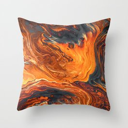 Lava Art Throw Pillow
