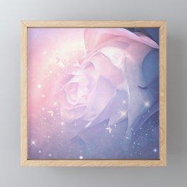 Roses with butterflies Framed Mini Art Print