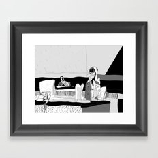 Pinned and Wriggling Framed Art Print