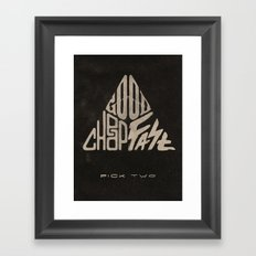 The Iron Triangle Framed Art Print