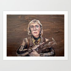 Log Lady / Twin Peaks Art Print