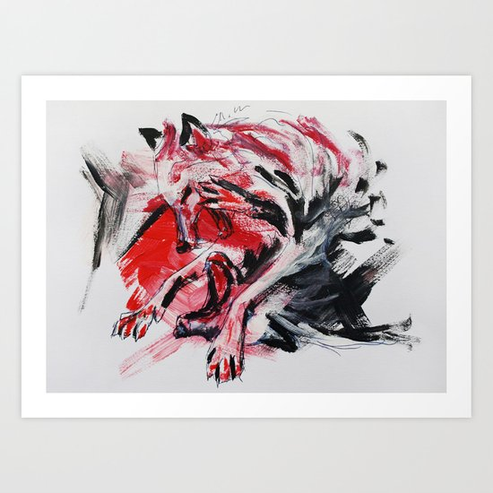 the fight Art Print