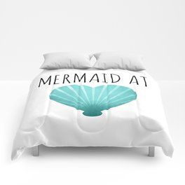 Mermaid At Heart  |  Teal Comforters