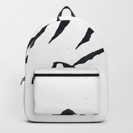 MOUNTAINS Black and White Backpack