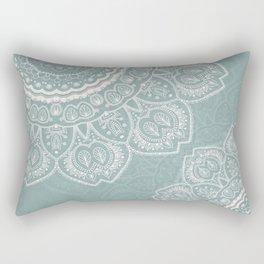 Mandala of Blue Dreams Rectangular Pillow