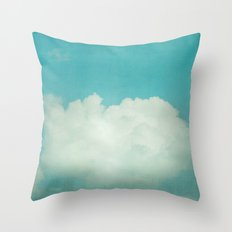 Come With Me, Wendy (blue) Throw Pillow