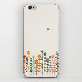 Happy garden iPhone Skin