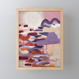 Never go too long without watching the sunset Framed Mini Art Print