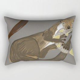 Old World otters Rectangular Pillow