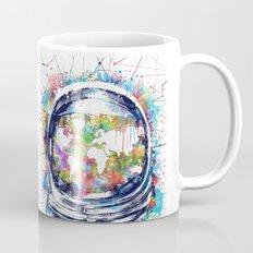 astronaut world map colorful Mug