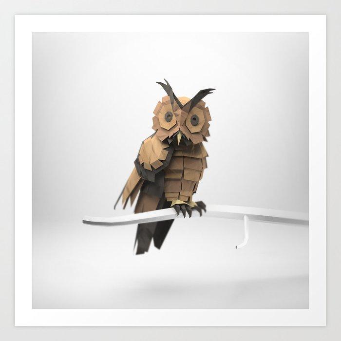 The Paper Fox : Owl Art Print