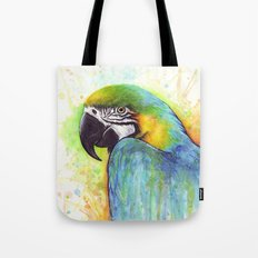 Macaw Bird Parrot Colorful Tropical Animal Tote Bag