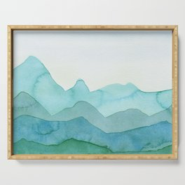 Green Mountains Serving Tray