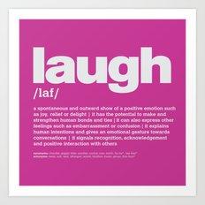 definition LLL - Laugh 9 Art Print