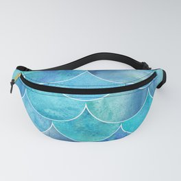 Turquoise Blue Watercolor Mermaid Fanny Pack