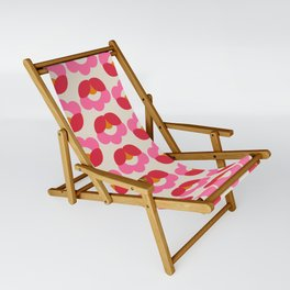 Flowers geometry - retro pattern no2 Sling Chair