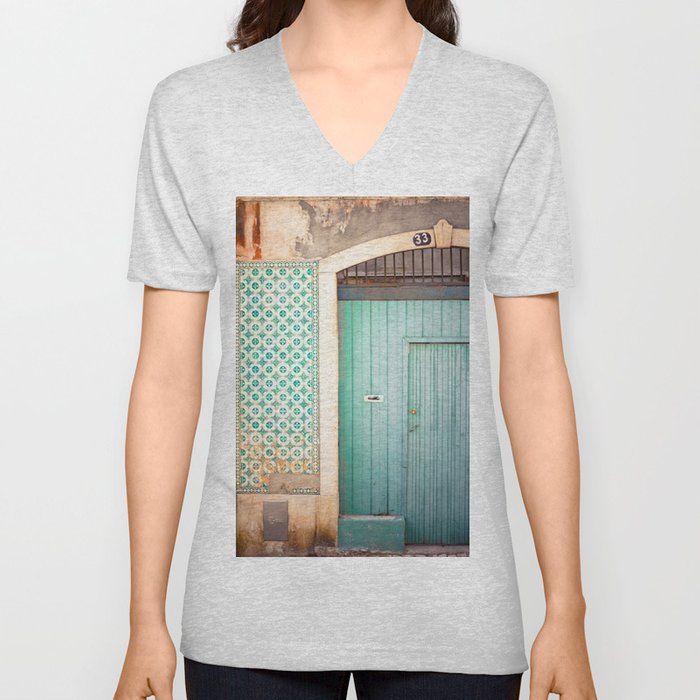 The mint door Unisex V-Neck