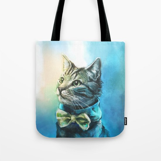 Handsome Cat Tote Bag