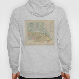 Vintage Map of Oulu Finland (1886) Hoody