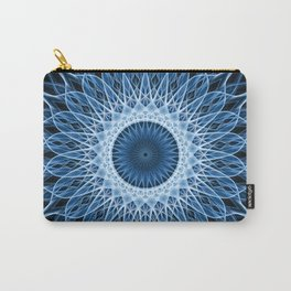 Bright blue and white mandala Carry-All Pouch