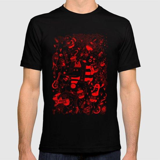 rot zeichentusche  T-shirt