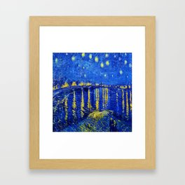 Van Gogh Starry Night Over the Rhone Framed Art Print