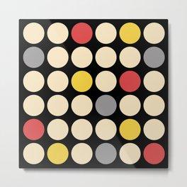 Mid Century Modern Polka Dot Pattern 429 Metal Print