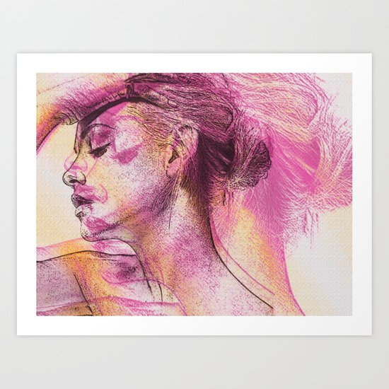 wounded minds Art Print