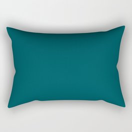 Midnight Green (Eagle Green) - solid color Rectangular Pillow