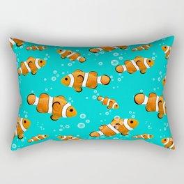 Tropical Clownfish Pattern Rectangular Pillow