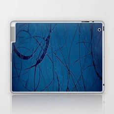 Navy Blue - Jackson Pollock Style Art - Abstract - Expressionism - Modern Laptop & iPad Skin