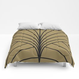 Diamond Series Floral Burst Charcoal on Gold Comforters