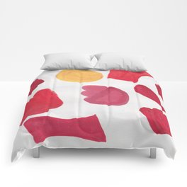37  | 190408 Red Abstract Watercolour Comforters