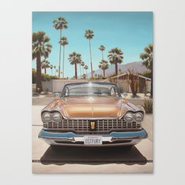 Plymouth In Driveway Canvas Print