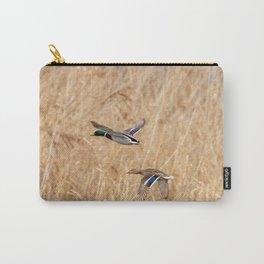 Mallard duck in flight, duck hunting season Carry-All Pouch