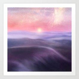 Minimal abstract landscape III Art Print
