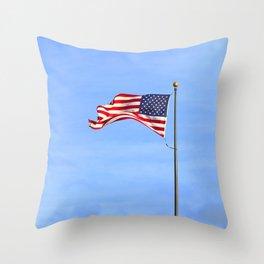 Flag on Skinner Butte Throw Pillow