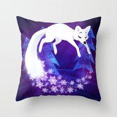 Snow Fox Dream Throw Pillow
