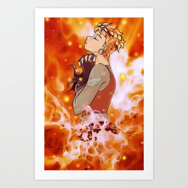 In Flames Art Print
